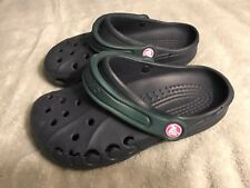 Crocs Womens Size 6 Blue Green Clogs Shoes SC8