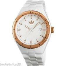 NEW ADIDAS WHITE,ROSE GOLD+DATE CAMBRIDGE WATCH ADH2086