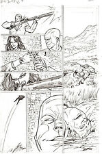 G.I. Joe #8 p 12 DESTRO BARONESS SHOOTING Pencil Art Steve Kurth