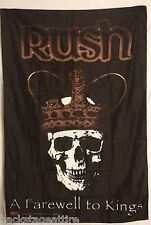 Rush Farewell To Kings Geddy Lee Cloth Fabric Poster Flag Textile Tapestry-New!