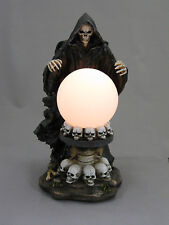 Skeleton Reaper Scryer with Crystal Ball Gothic