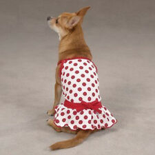 ZACK & ZOEY Dog Clothes Nantucket Red Polka Dot Sun Dress Clothing Size Medium M