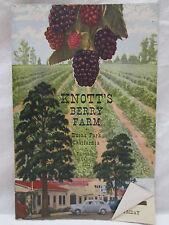 Vtg Knott's Berry Farm Buena Park California Brochure with Chicken Dinner Menu