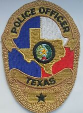 GOLD Texas Police officer badge patch