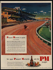 1951 Triple Crown Winner CITATION - Pimlico Horse Track- GRAMATLY Art VINTAGE AD