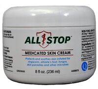 Athlete's Foot, Ringworm, Fungal infection Medicated Skin Cream by AllStop - 8oz