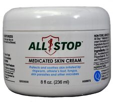 Athlete's Foot,Ringworm,Scabies,Parasites Medicated Skin Cream by AllStop - 8oz