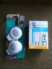 Kid Co ~ Door Knob Locks + Safety 1st Outlet Cover&Cord Shortner ~ Both New