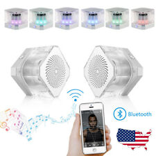 Portable Double Wireless Bluetooth Speaker Stereo Super Bass Sound Box Crystal