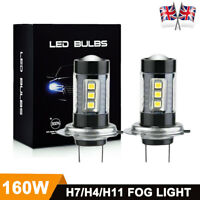 H1 H11 H4 H7 LED Fog light 160W Car Headlight Bulbs Kit 6000k HID Decoder Canbus