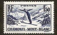 N° 334 Chamonix 1937,sans trace de charnière, superbe, cote 16€