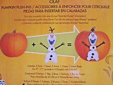 New - Disney Olaf Frozen Halloween Push-Ins Decoration Pumpkin