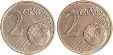 2 Cent Probe Coupling Zweier Wertseiten Ca 2002 Germany Mint State, (2)