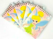 5 Pack Pink Tinkerbell Disney Spiral Notebook Memo Pads For School Work