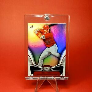 Mike Trout RAINBOW HOLO INSERT ANGELS CARD - W/ CASE - INVESTMENT
