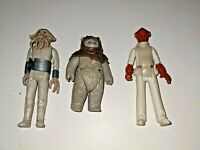 Vintage Star Wars ROTJ Figure Lot of 3 - Chief Chirpa (Ewok), Admiral Ackbar and