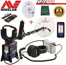 MINELAB GPX 5000 GOLD PROSPECTING Metal Detector + 2 SEARCH COILS -- 3 YR WARR