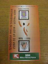 21/10/1997 Athletic Bilbao v Aston Villa [UEFA Cup]. gracias por ver este que