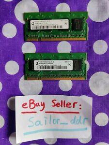Used - Qimonda - 1GB (2x 512MB sticks) Laptop RAM memory - hys64t64020hdl-3s-b