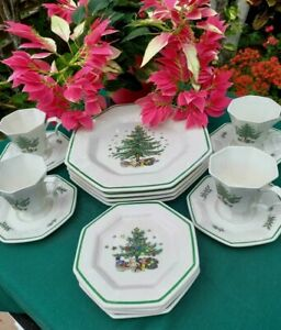 NIKKO CHRISTMASTIME LOT of 16 ~ 4 DINNER Plates 4 CUPS/SAUCERS and 4 B/B NEW