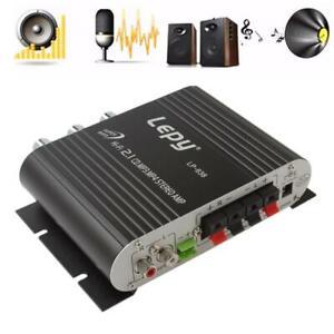 200W Mini Hi-Fi 2.1 Amplifier Amp Booster Radio MP3 Stereo Audio for Car Home US