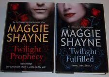 LOT Maggie Shayne TWILIGHT PROPHECY & FULFILLED HARDCOVER NEW Wings In Night