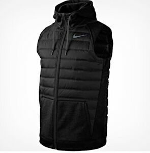 AUTHENTIC NIKE THERMA WINTERIZE SYNTHETIC FILL HOODED VEST BV4534-011