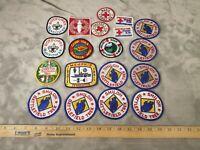 19-Boy Scouts Of America PATCH Collection LOT Battlefield Shiloh Trek BUNDLE VTG