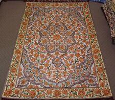 Persian Handmade Chainstitch Silk Rug Carpet Runner, Oriental Decor 184x124 cm