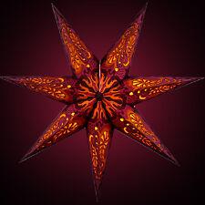 """STERNENLICHTER24 Papierstern Leuchtstern Weihnachstern """"Fancy Fire Fuchsia"""" NEU!"""