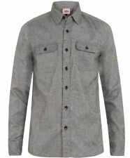 2be96216 Edwin LS Conway Shirt, Flannel, Grey Enzyme Stone Washed, L