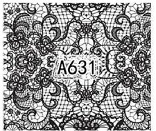 Nail Art Decals Transfers Stickers Lace Pattern (A-631)