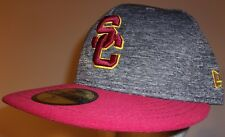 510671535a2 New Era 59Fifty USC Trojans Southern California Cap Hat men fitted 7 1 2  heather