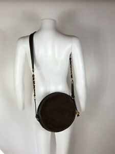 Rare Vtg Chanel Brown Quilted Suede Shoulder Bag