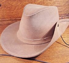 Minnetonka Hat Suede Leather Cowboy Aussie Outback XL Extra Large Snap Up Brim