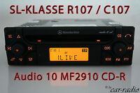 Original Mercedes Audio 10 CD MF2910 CD-R R107 Autoradio SL-Klasse C107 Radio