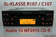 ORIGINALE Mercedes Audio 10 CD mf2910 CD-R Autoradio SL-classe r107 c107 Radio