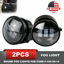 For 2009-2014 Ford F-150 4Inch Round Fog Lights 2Pcs 30W LED Fog Lamp Smoke Lens