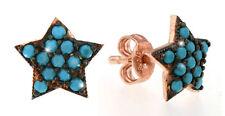 Entzückende Ohrstecker Sterne Türkis Silber