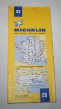 France - Michelin 1:200,000 Map - Carcassonne, Nimes - Sheet 83 - 1978