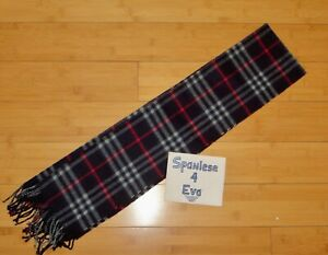 BRAND NEW Burberry scarf classic check cashmere navy