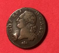 1788 France Louis XVI Liard Rare Coin Français French Revolution Use By Colonial