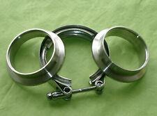 Burstflow V Band Schelle 76 mm 3 Zoll und 2 Anschweissringe Zentrierringe Turbo