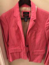Jcrew Schoolboy Blazer Bright Pink Size 4P