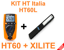 KIT MULTIMETRO DIGITALE PROFESSIONALE + TORCIA RICARICABILE mod. HT60L HT Italia