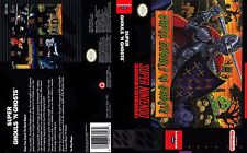 Super Ghouls 'n Ghosts Replacement SNES Box Art Case Insert Cover Scan Repro.