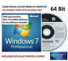 Win 7 SP1 Professional 64bit HP DVD - UPGRADE VISTA or CLEAN INSTALL + Licence