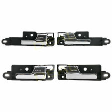 Set of 4 Complete Interior Inside Chrome Door Handle Fit Fusion/MKZ/Zephyr/Milan