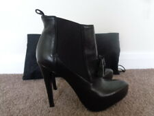 NEW ALLSAINTS 100% LEATHER BLACK ANKLE BOOTS SIZE 5