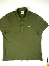LACOSTE Mens Short Sleeve Polo Shirt Size 6 ( L ) Olive Green